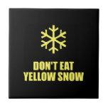 No coma la nieve amarilla tejas  cerámicas