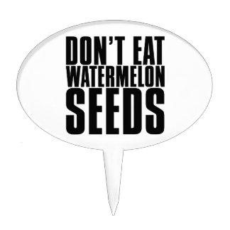 No coma las semillas de la sandía figuras para tartas