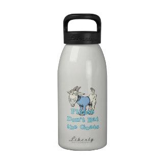 No coma por favor las cabras botella de agua reutilizable