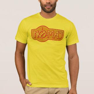 No-Comandante rojo y amarillo Badge Playera