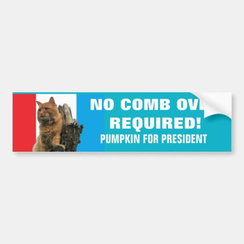 No Comb Over Required Vote Pumpkin 2020 Bumper Sticker