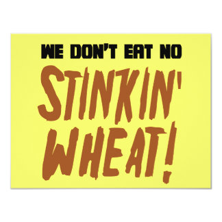 No comemos ningún gluten celiaco del trigo de invitaciones personalizada