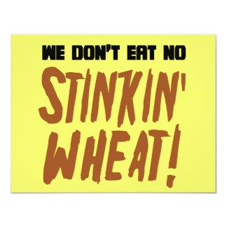 """No comemos ningún gluten celiaco del trigo de invitación 4.25"""" x 5.5"""""""