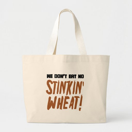 No comemos ningún gluten celiaco del trigo de Stin Bolsa De Mano