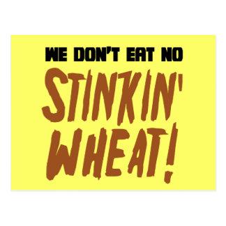 No comemos ningún gluten celiaco del trigo de tarjetas postales
