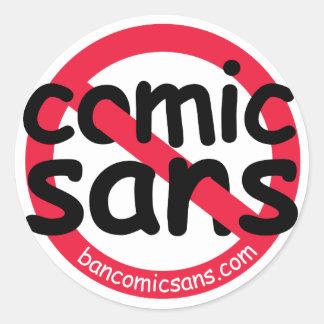 No Comic Sans Sticker Sheet