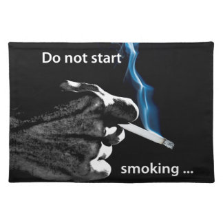 No comience a fumar… manteles