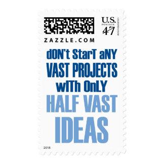 no comience ninguna proyectos extensa con medias sello postal