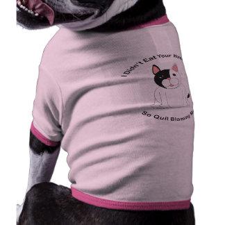 No comió su preparación (Boston Terrier) Camisetas De Perro