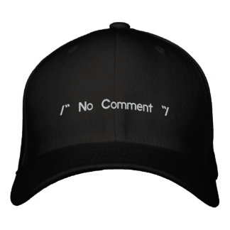 No Comment Embroidered Baseball Hat