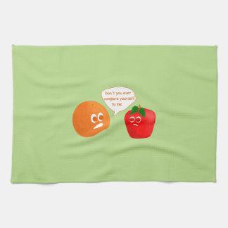 No compare las manzanas a los naranjas toallas