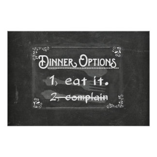 No Complaining (large) Poster