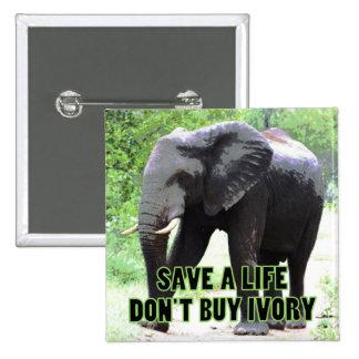 No compre la marfil, ahorran la vida de un elefant pins