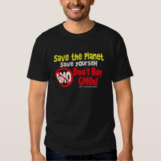 No compre los GMOs Remera