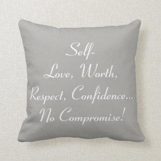 "No Compromise ""16x16"" Throw Pillow - P2"