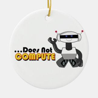 No computa adorno redondo de cerámica