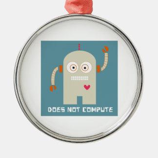No computa adorno redondo plateado