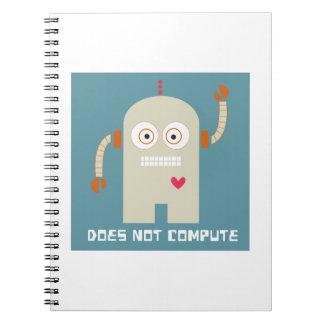 No computa libreta espiral