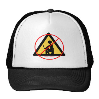 No Computer Privacy (Red Cross-Out Geek Humor) Hat