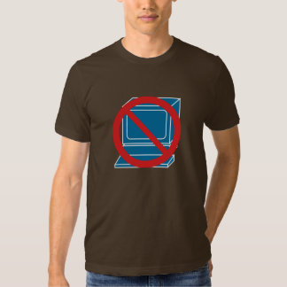 No computer t shirt