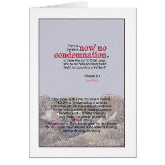 NO Condemnation - Romans 8:1 Card