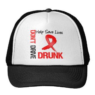 No conduzca bebido - ayude a ahorrar vidas gorro de camionero