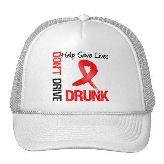 No conduzca bebido - ayude a ahorrar vidas gorra