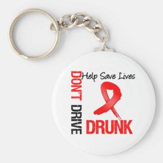 No conduzca bebido - ayude a ahorrar vidas llavero redondo tipo pin