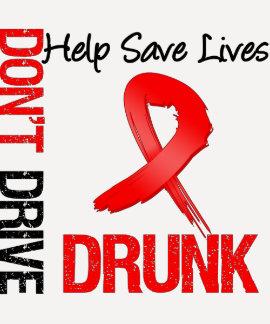 No conduzca bebido - ayude a ahorrar vidas camisetas