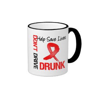 No conduzca bebido - ayude a ahorrar vidas taza