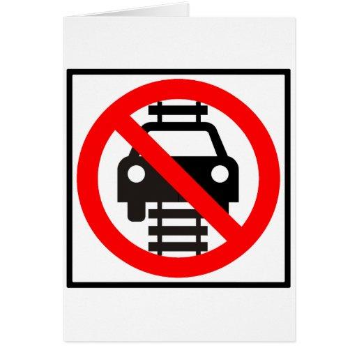 No conduzca en muestra de la carretera de las tarjeta de felicitación
