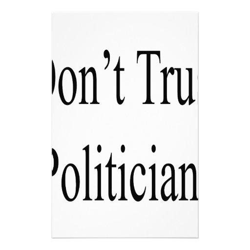 No confíe en a los políticos  papeleria de diseño