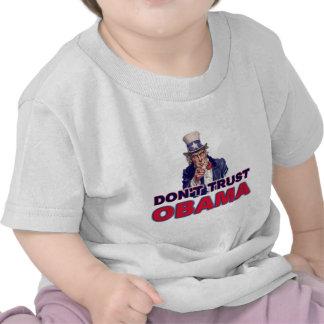 No confíe en a Obama Camiseta