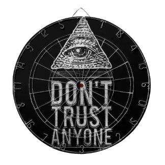 No confíe en cualquier persona tabla dardos