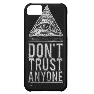 No confíe en cualquier persona funda iPhone 5C