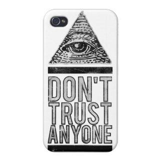No confíe en cualquier persona iPhone 4/4S carcasa
