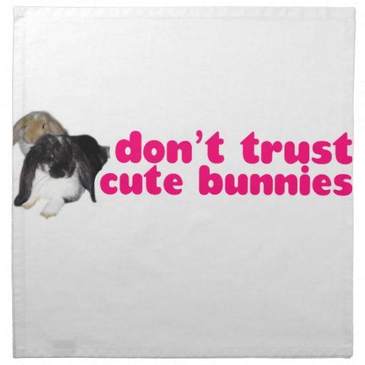 No confíe en los conejitos lindos - conejos travie servilletas imprimidas