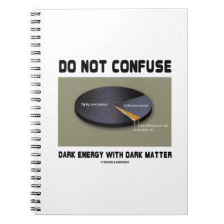 No confunda la energía oscura con la materia notebook