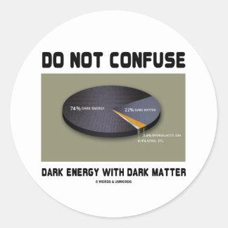 No confunda la energía oscura con la materia oscur etiquetas