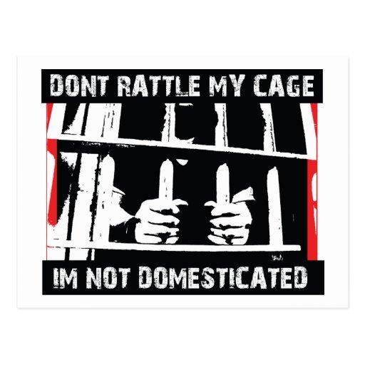 No confunda mi jaula que me no domestican tarjeta postal