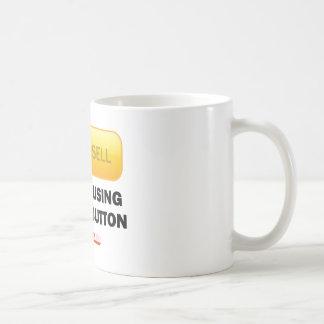 No Confusing Yellow Button Coffee Mug