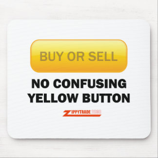 No Confusing Yellow Button Mouse Pad