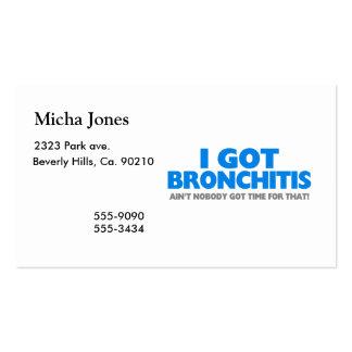 No conseguí bronquitis y no soy nadie hora consegu plantilla de tarjeta personal