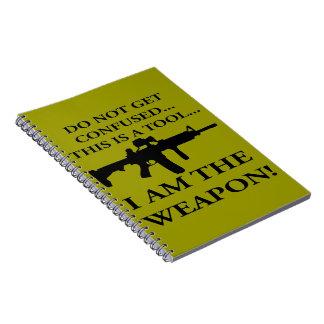 No consiga confundió este rifle es una herramienta libros de apuntes con espiral