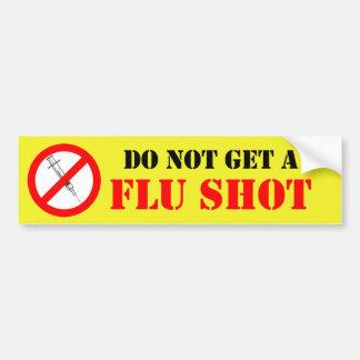 No consiga una vacuna contra la gripe pegatina de parachoque