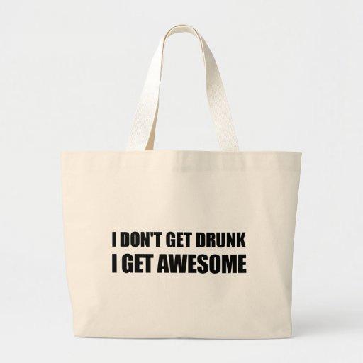No consigo bebido, yo consigo IMPRESIONANTE Bolsa Lienzo