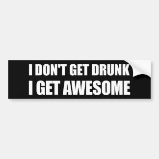 No consigo bebido, yo consigo IMPRESIONANTE Pegatina Para Auto