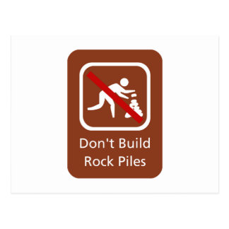 No construya las pilas de la roca, muestra, postales