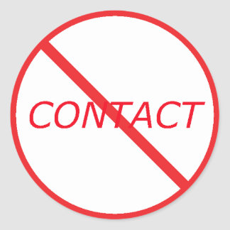 No Contact - All red Classic Round Sticker