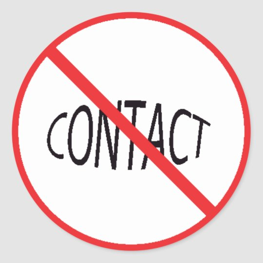 NO CONTACT PRODUCTS CLASSIC ROUND STICKER